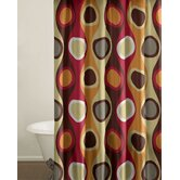 Retro Radar Shower Curtain in Red