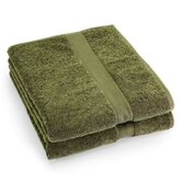 Supreme Egyptian Cotton Bath Sheet in Green Tea (Set of 2)