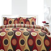 Retro Radar Red Duvet Set