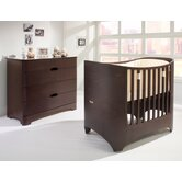 Two Piece Crib Set in Walnut