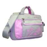 Floral Line Professional Womens Detachable Laptop Bag in Grey