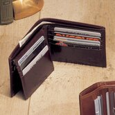 High Polished Cowhide Aniline Leather Pass Case Wallet
