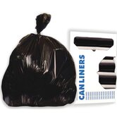 45-Gallon Super Extra-Heavy Grade Can Liner in Black