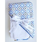 Ikat Diamond Hooded Towel Set