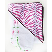 Boutique Zebra Hooded Towel Set