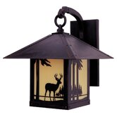 Timber Ridge Outdoor Wall Lantern with Deer Filigree