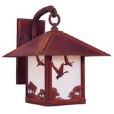 Timber Ridge Outdoor Wall Lantern with Goose Filigree