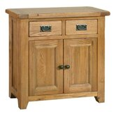 Bordeaux Mini Sideboard in Medium Oak Stain and Satin Lacquer