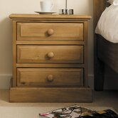 Woodland Pine 3 Drawer Bedside Table