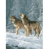 Hautman Bros Wolf Super Plush Throw