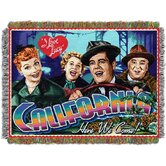 Entertainment Lucy California Here We Come Tapestry Throw