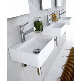 "Linea 13"" x 11.2"" Qaurelo Vessel Sink in White"