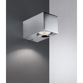 Metric 4.3&quot; x 3.1&quot; Wall Light in Polished Chrome