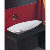 "Ceramica 31.5"" x 15.7"" Vessel Sink in White"