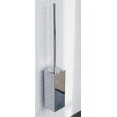 "Metric 23.2"" x 3.5"" Wall Toilet Brush Holder in Polished Chrome"