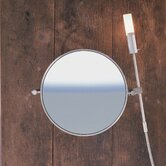 "WS1 Wall-mount Magnifying (5X) Makeup Mirror with Halogen Light, 8.6"" Extension"