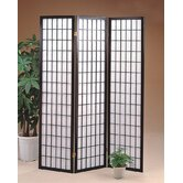 Three Panel Screen Black