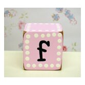 &quot;f&quot; Letter Block in Pink