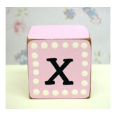 &quot;x&quot; Letter Block in Pink