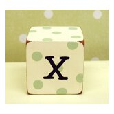 """x"" Letter Block in Green"