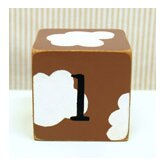 """l"" Letter Block in Chocolate"