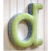 """d"" Fabric Letter in Blue / Green"