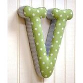 """v"" Fabric Letter in Blue / Green"