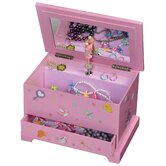 Kerri Girl's Musical Ballerina Jewelry Box with Fashion Paper Overlay