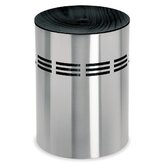 Slice Laundry Bin with Black Wooden Lid
