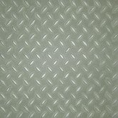 "Metro Design Textured Metallic Tile 18"" Vinyl Tile in Green"