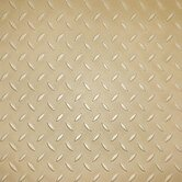 "Metro Design Textured Metallic Tile 18"" Vinyl Plank in Gold"