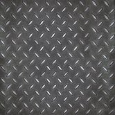 SAMPLE - Metro Design Textured Metallic Tile Vinyl Tile in Black