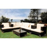 Manhattan Cappuccino 7 Piece Modular Sofa Set