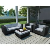Beach Grove Park Terrace 5 Piece Deep Seating Group with Cushions
