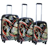 Woodstock Expandable Hardsided 3 Piece Spinner Luggage Set