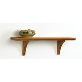 Narrow Mission Craft Bracket Shelf in Honey Oak