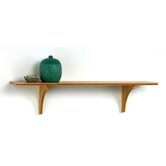 Long Mission Craft Bracket Shelf in Honey Oak