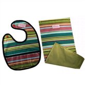 Bib & Burp Cloth Set in One Line Day
