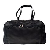 "Traveler Deluxe 17"" Leather Carry-On Duffel Bag"