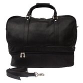 "Traveler 20"" Leather False Bottom Travel Duffel"