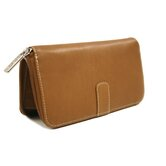 Women's Zip Around Wallet in Saddle