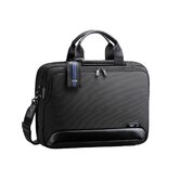 "Dual Blue 16.5"" Expandable Computer Briefcase"