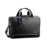 "Dual Blue 17.3"" Expandable Computer Briefcase"