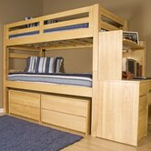 Graduate Series Extra Long Twin over Twin Bunk Bed with Built-In Ladder