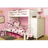 Mission White Extra Long Twin over Full Bunk Bed
