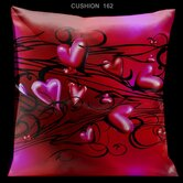 Valentines Pillow with Pink and Red hearts