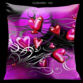 Valentines Pillow with Pink Hearts