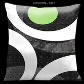 "Ham and Eggs Gray and Green 18"" Square Satin Pillow"