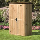 Vertical Cedar Tool Shed