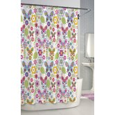Bambini Butterfly Cotton Shower Curtain